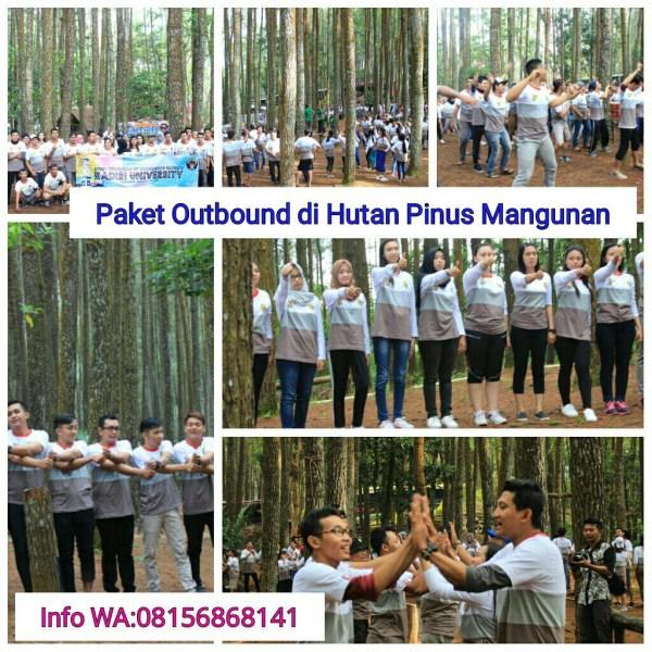 family gathering di hutan pinus