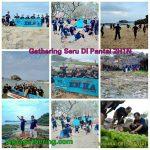 Staff Gathering Outbound di Pantai Gunung Kidul