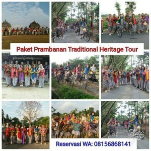 paket gathering seeru di prambanan dengan pakaian tradisional