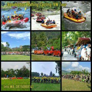 paket gathering borobudur adventure - rafting-cycling-vw tour-outbound
