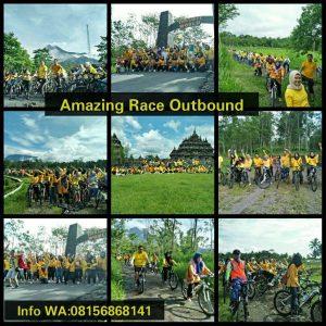 outbound amazing race dimerapi -Prambanan